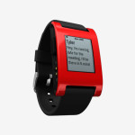 Pebble in Cherry Red - Android notification support