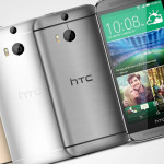 HTC One (M8) gunmetal grey and arctic silver colours