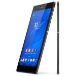 Sony Xperia Z3 Tablet Compact - black version (front and side)