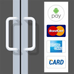 Android Pay - sign on shop door
