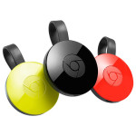 Chromecast 2015 - Lemonade, Black and Coral colours