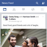 Facebook Android app - news feed