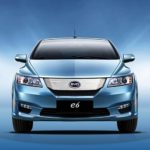 BYD E6 car - blue (front)