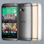 HTC One M8s - grey, gold and silver
