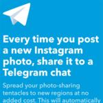 Telegram integration with IFTTT