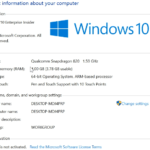 Windows 10 Enterprise Edition - Qualcomm Snapdragon 820 - WinHEC