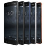 Nokia 6 - all five colours