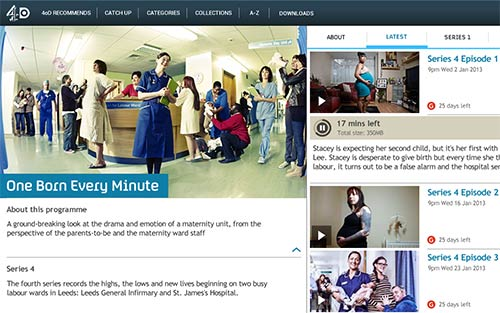 4oD Android app - One Born Every Minute