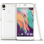 HTC Desire 10 Pro in white and gold